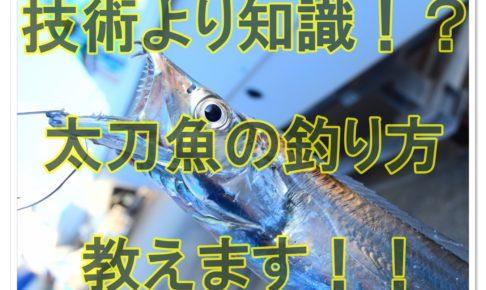 太刀魚の釣り方